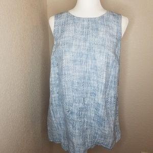 J. Jill pure jill blue sleeveless linen dress